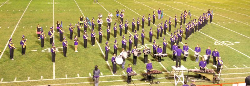 The Alpine Band takes the field at Odessa's Ratliff Stadium at 12:45 p.m.