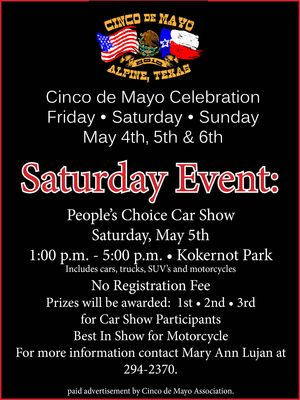 Cinco car show