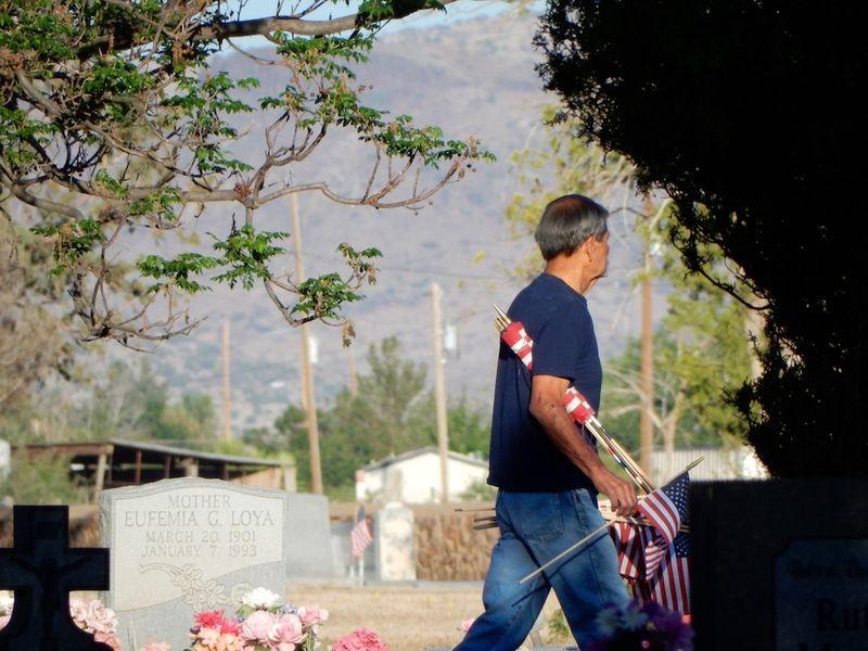 JJ Espinoza at cemetery