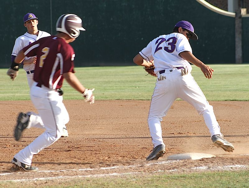 Bucks pic9-Lucas Ramirez tags runner at 1st