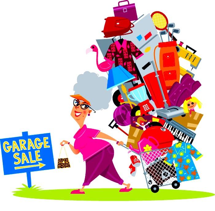 Garage-sale-haul