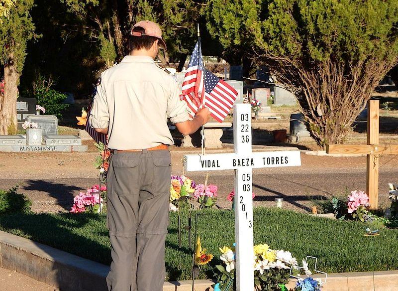 Noah Zunker at cemetery