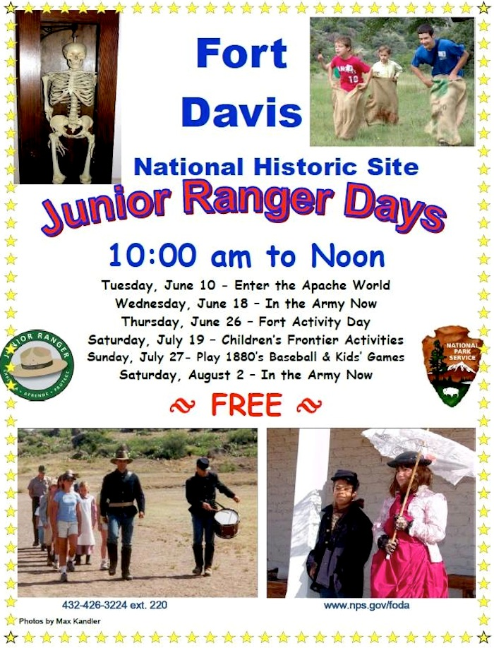 Fort Davis NHS Junior Ranger Days