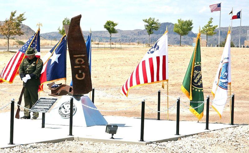 911 Memorial at Border Patrol station in Alpine.