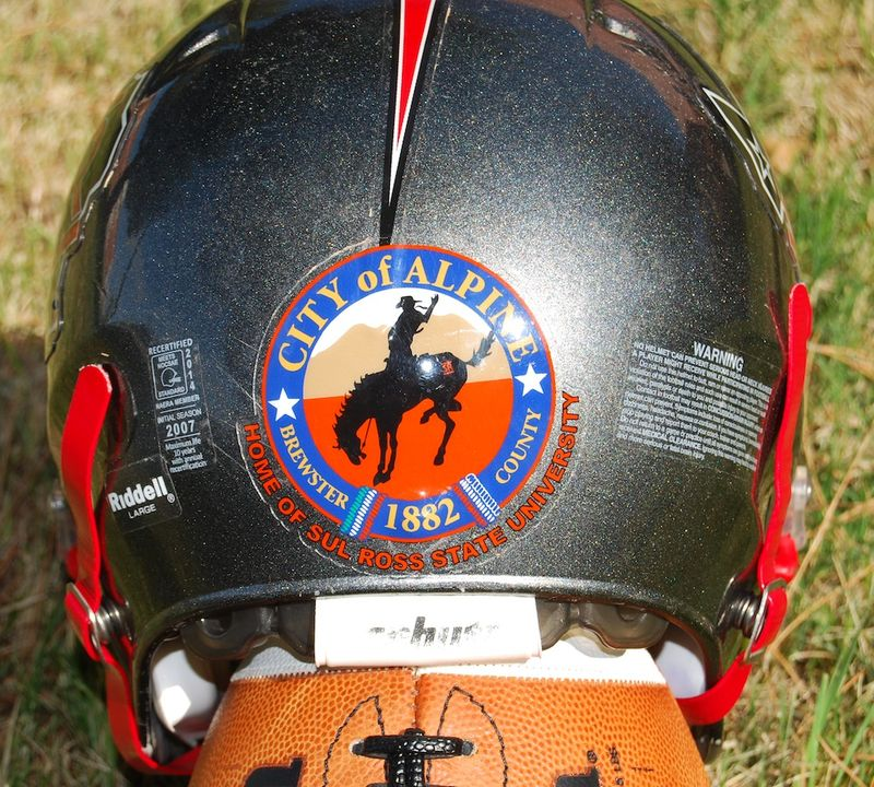 Sul Ross helmet with new seal