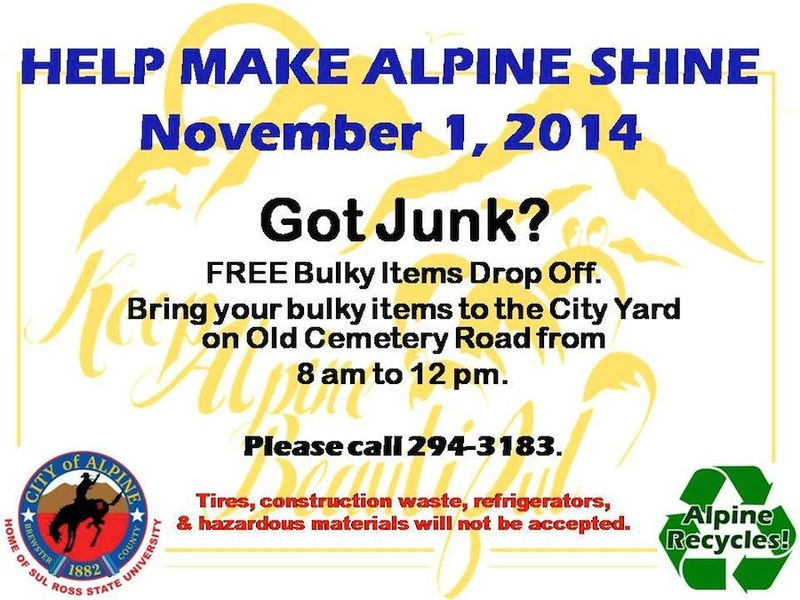 Bulky trash day Nov 1