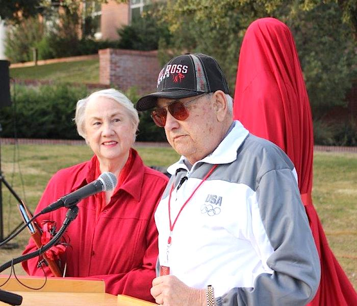 Charlie and Arline Nichols at unveiling