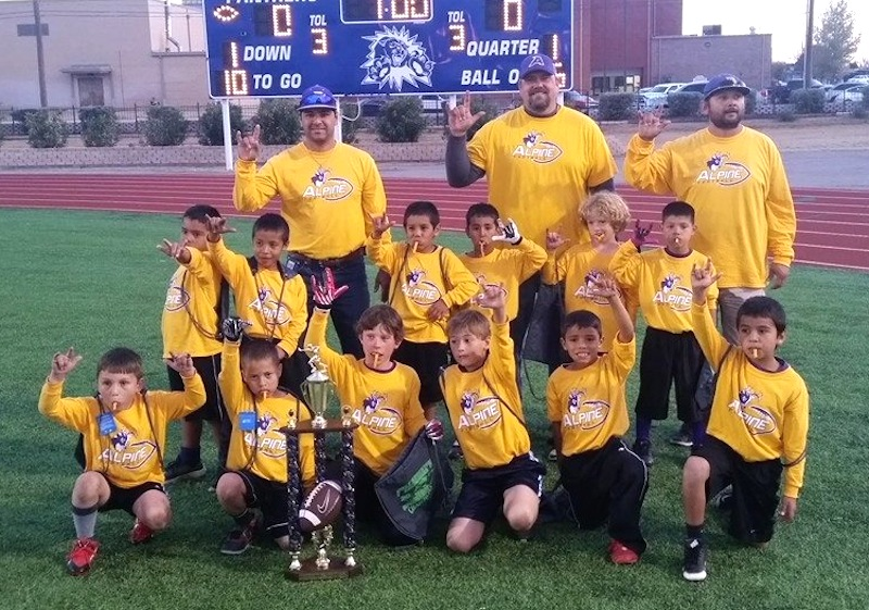 Alpine flag football young athletes
