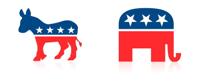 Demo and GOP symbols