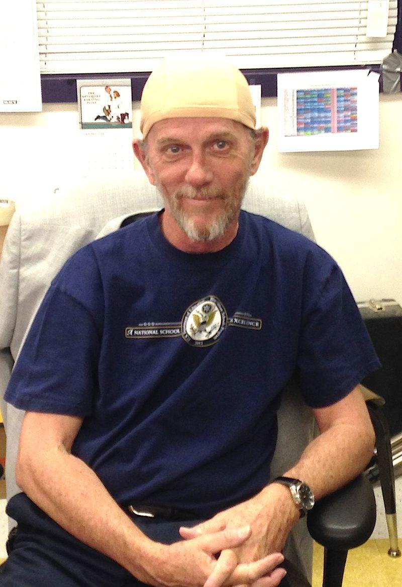 Jim Lee of AHS and bald cap