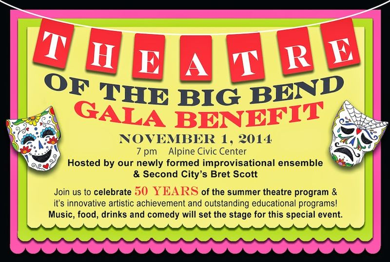 Theatre of Big Bend gala poster